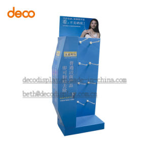 Customized Cardboard Display Stand Pop Display with Hooks pictures & photos