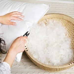 Siliconized Fiber 7D Virgin 100% Cotton Pillow pictures & photos