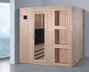 1800mm Spruce Wood Infrared Sauna (AT-8639) pictures & photos