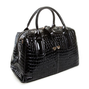 Women Crocodile Patent Leather Handbag Shoulder Top Handle Boston Bags pictures & photos