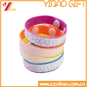 Promotion Custom No Logo Rubber Wrisband and Silicone Bracelet (YB-HR-101) pictures & photos