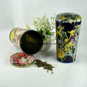 Custom Flower Vase Shape Tin Box for Tea pictures & photos