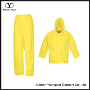 Durable PVC / Polyester Coating Rainsuit & Rain Suit with Hood pictures & photos