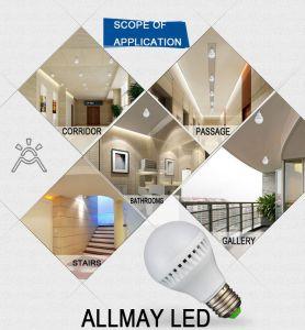 Radar Induction LED Bulb Light with Sensor Range 6-8m pictures & photos