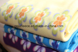 Bedsheet Fleece Fabric with Flower Print pictures & photos