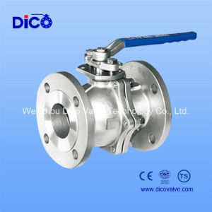 2PC Mounting Pad CF8 Flange Ball Valve with Locked Handle pictures & photos