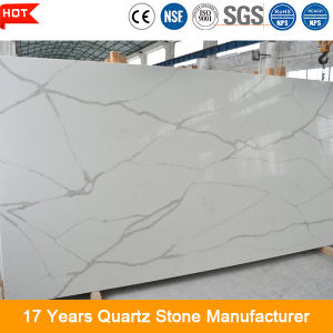 Scratch Resistant Artificial Calacatta Gold Quartz Stone Slab pictures & photos