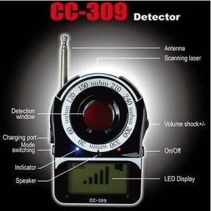 Universal Anti-Spy Full Band Wireless RF Detector GPS Portable Mobile Phone Signal Detector Cc309 pictures & photos