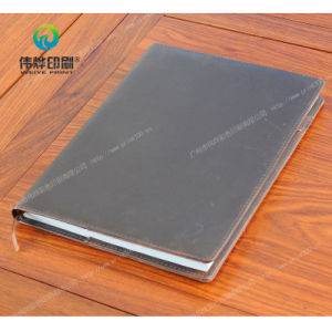 Leather Cover Offset Paper Printing Notebook pictures & photos