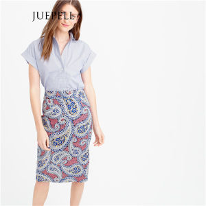 Tulip Print Pencial Office Women Skirt pictures & photos