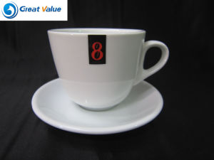 Factory Direct Promotional Porcelain Ceramic Cappuccino Cup with Saucer pictures & photos