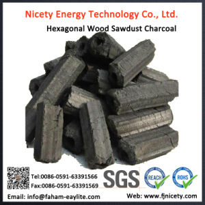 Low Ash Hexagonal Hardwood Sawdust Briquette Charcoal for BBQ pictures & photos