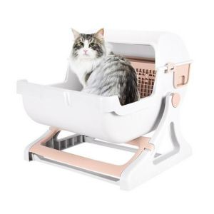 Portable Resin PP Material Cat Toilet with Large Space pictures & photos