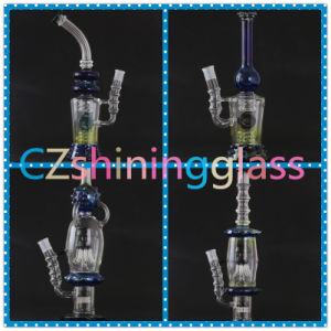 Cheaper Price Smoked Silver Glass Smoking Water Pipe Shining-005 pictures & photos