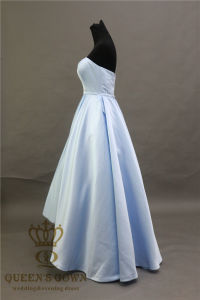 Cheaper Satin Sweetheart Bridesmaid Dress a-Ling Evening Party Dress pictures & photos