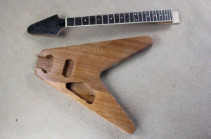 Hanhai/Lef Handed Flying V Electric Guitar Kit (DIY Guitar Parts) pictures & photos