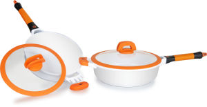 Casting Aluminum Cookware Set with Silicon Handle and Cover pictures & photos