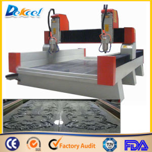 5.5kw Double Head Stepping Motor Engraver Stone CNC Router Machine pictures & photos