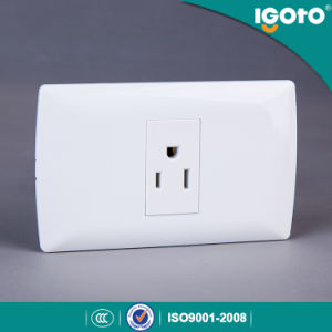 Us Standard Igoto 3pin Home Wall Light Socket pictures & photos