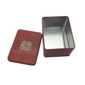 Tin Packaging Box Red Color Printing Custom Loge Design Wholesale pictures & photos