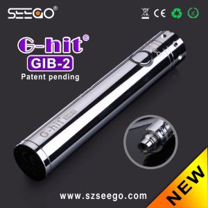 Sleek Stainless steel G-Hit Gib-2 Battery E Cigarette Mod with Button pictures & photos