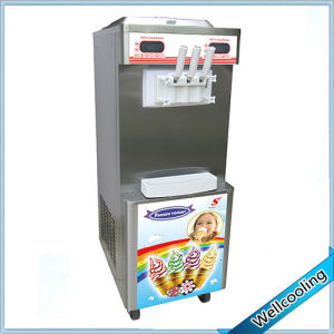 Double Cooling System Professional Commercial Frozen Yogurt Machine for Sale pictures & photos