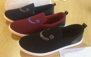 Latest Design Injection Men Canvas Shoes Comfort Shoes Slip-on Shoes