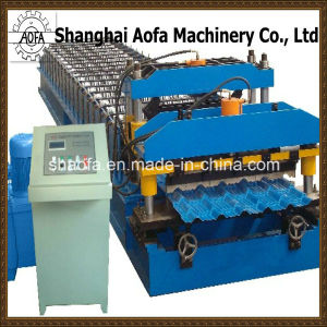 1000mm Effective Width PPGI Glazed Roof Tile Roll Forming Machine pictures & photos