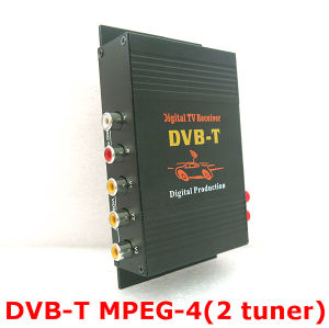 4 Video Output Mobile Digital TV Tuner MPEG-4 Car DVB-T with Dual Tuner