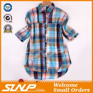 2016 China Clothing Women Fashion Check Shirt