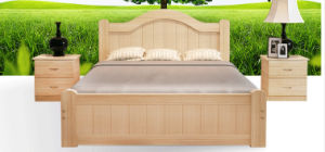 Solid Pine Wood Pupular Double Bed (M-X3024) pictures & photos