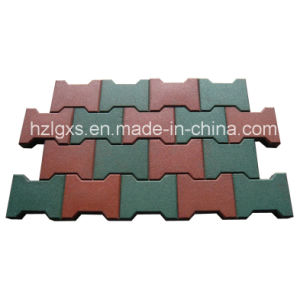 Dog-Bone Colorful EPDM Granules Rubber Flooring Tiles pictures & photos