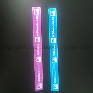 Promotion Customized Silicone Slap Bracelet Reflective Slap Band pictures & photos