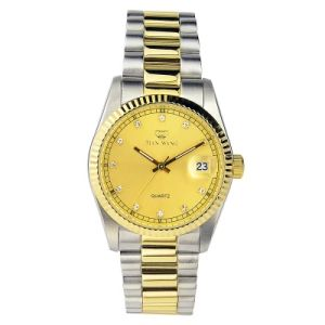 Ss and Gold Combined Colors Noble Gentleman Luxury Timepiece with Date Window pictures & photos
