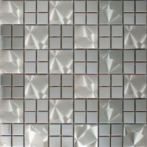 Metal Mosaic Tile Bathroom Wall Stickers Mirror TV Wall Mosaic Tile pictures & photos