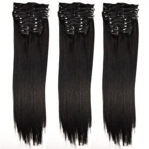 Full Head 10PCS Sets Brazilian Straight Hair Clip in Extensions pictures & photos