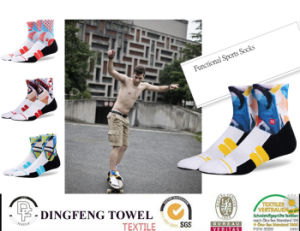 Printed Anti-Bacterial Itch Ankle Cotton Sport Sock pictures & photos