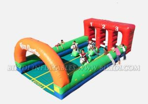 Inflatable 3 Lane Derby Race With Pony Hops (B6032) pictures & photos