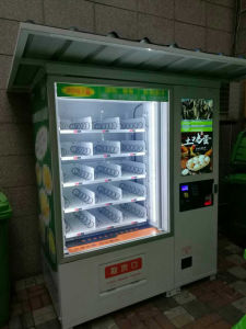 Glass Bottle Wine Vending Machine with Elevator pictures & photos