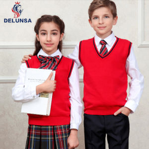 Japanese School Uniform V-Neck Vest for School Boys and Girls pictures & photos