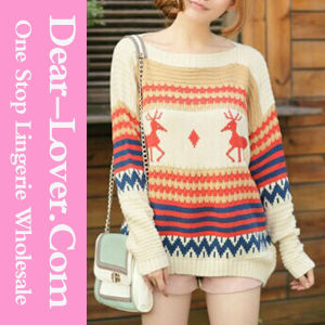 Top Fashion Girl Knitwear Wool Sweater pictures & photos