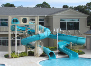 Private Swimming Pool Fiberglass Water Slide for Home pictures & photos