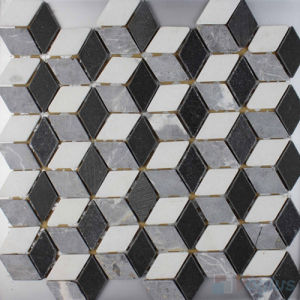 Polished 3D Stone Mosaic Marble Tile for Wall