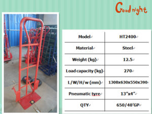 Competitive Price Metal Hand Trolley pictures & photos