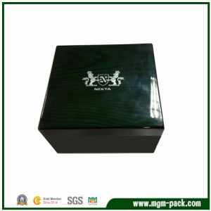 High Glossy Lacquered Black Wooden Watch Box pictures & photos