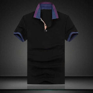 Short Sleeve Cotton Polo for Man, Men′s Solid Color T-Shirt pictures & photos