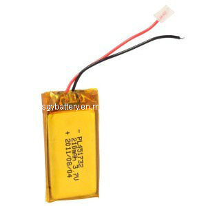 LP451732 3.7V 210mAh Rechageable Li-Polymer Battery