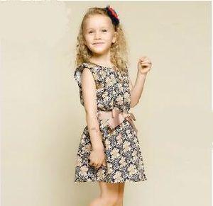 New Design Retro Scollop Girl′s Dress