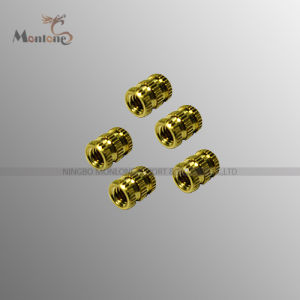 High-Precision Knurled Brass Insert with Acid Cleaning (MLIE-BTL022) pictures & photos