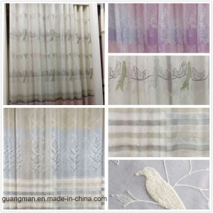 Embroidered Curtains Window Tulle Curtains for Living Room Gauze Voile pictures & photos